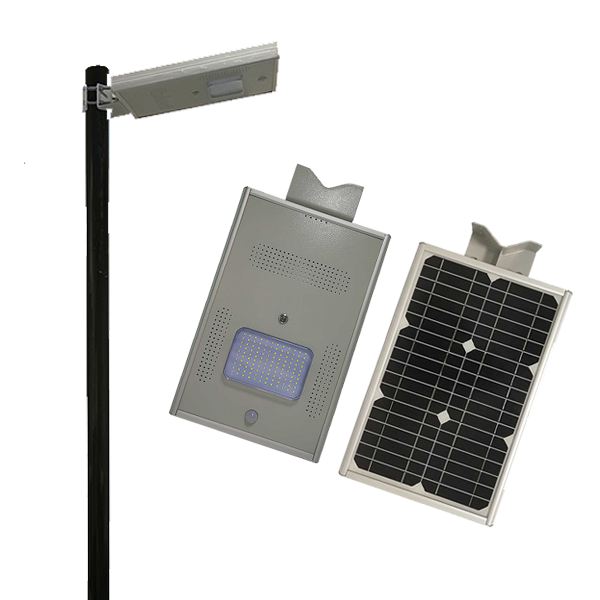 PIR motion sensor all in one solar street light 12W China manufacturer