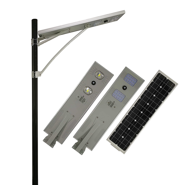 30w Waterproof IP65 smart all in one solar light untuk jalan dan jalan raya