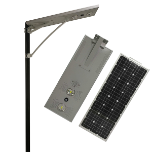 50w BridgeLux COB LED chip todo en una farola solar integrada