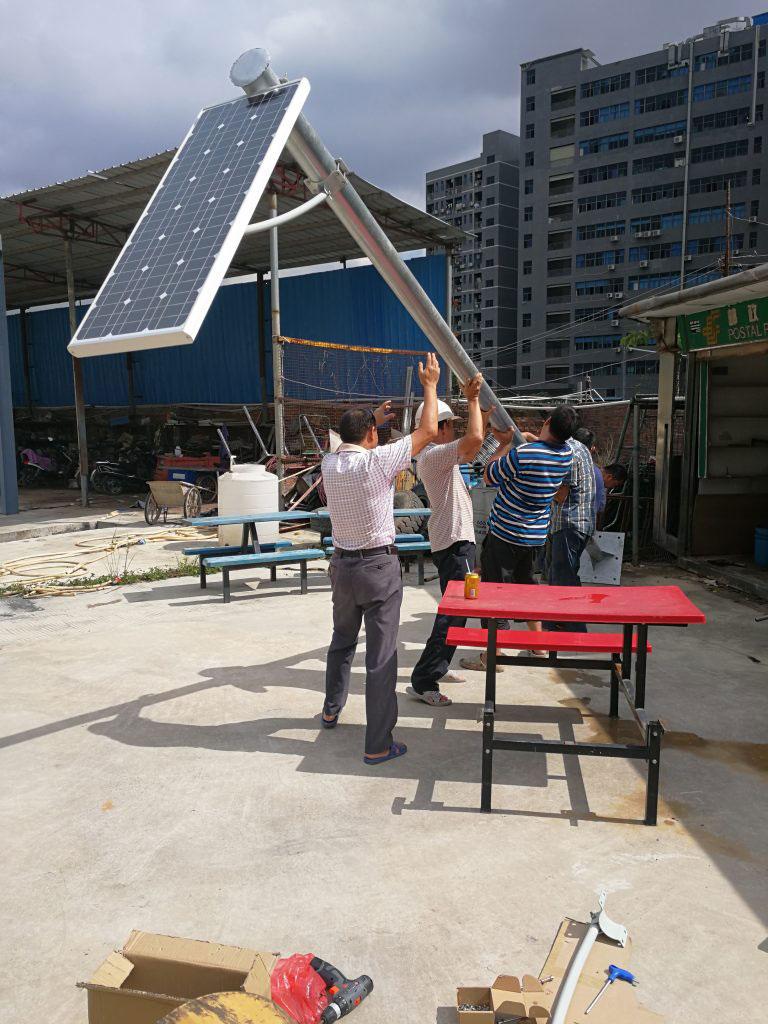 60w vše v jednom solárním pouličním osvětlení