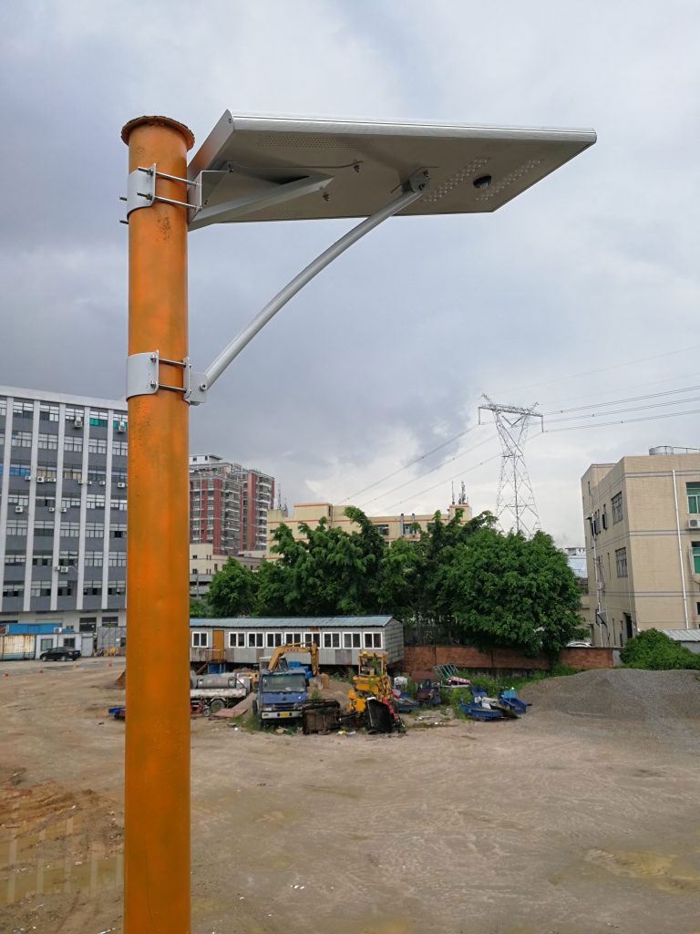 vše v jednom projektu solárního pouličního osvětlení