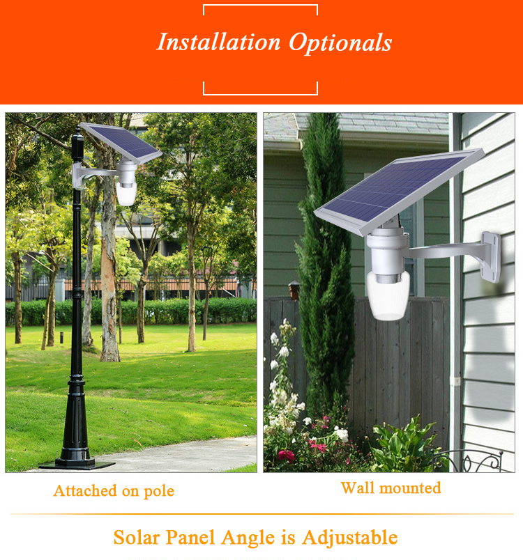 solar garden light installation