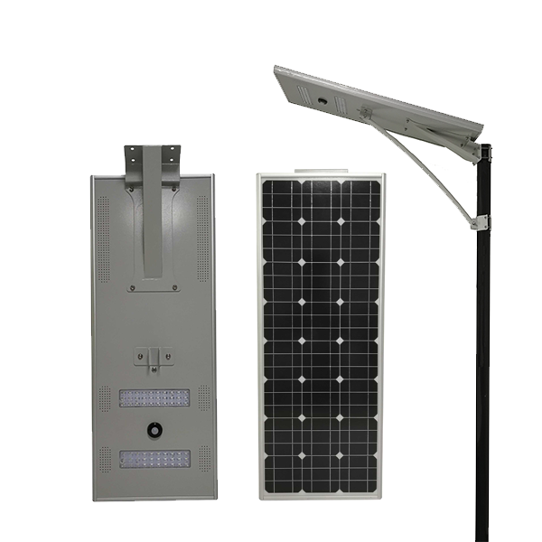 60w best integrated solar light for courtyard customized package logo