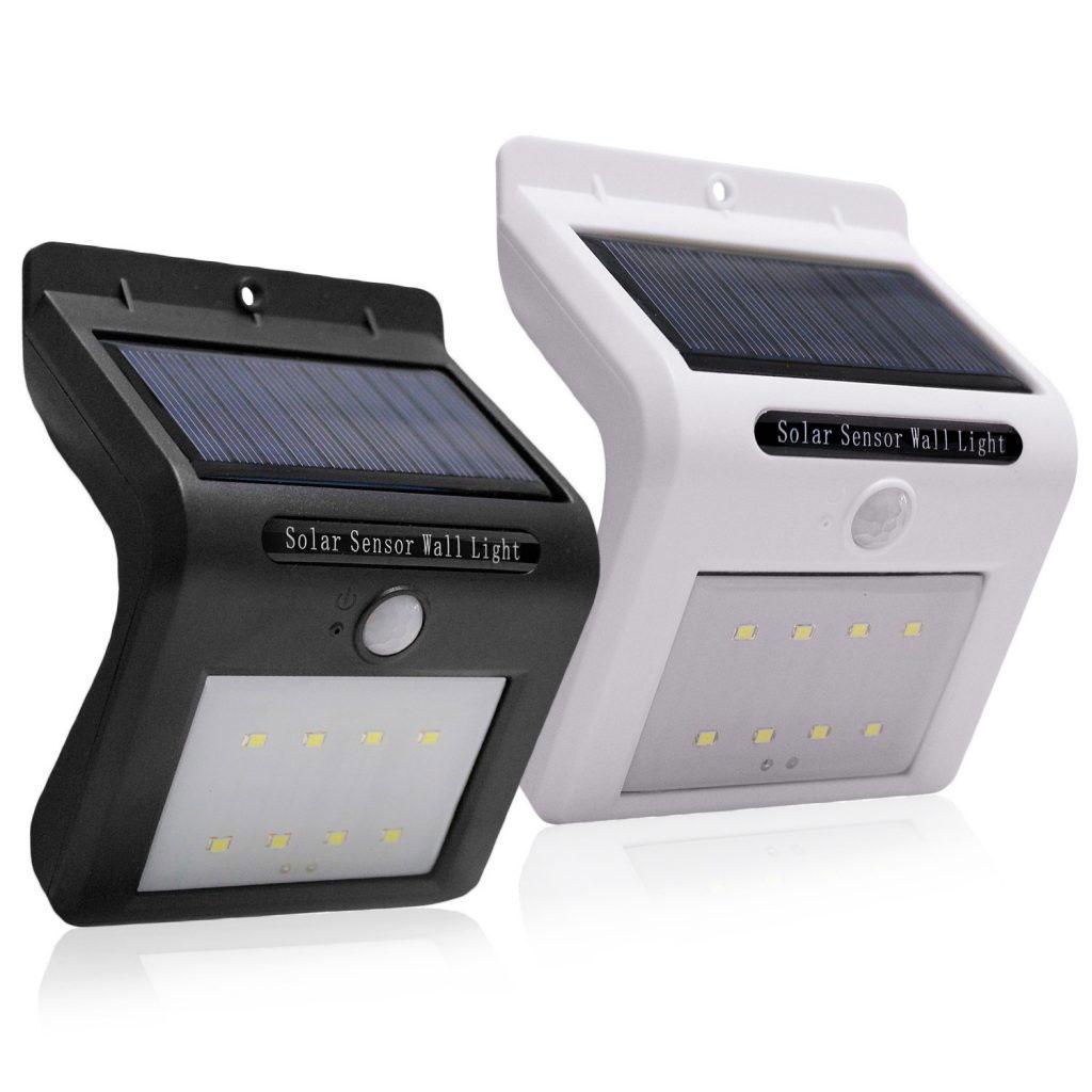 led solární senzor stěnové světlo