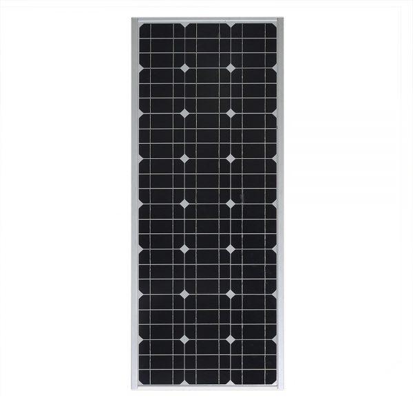 ไฟถนนพลังงานแสงอาทิตย์ในตัว 100W ออล - อิน - วันพร้อมเซ็นเซอร์เรดาร์ IP65