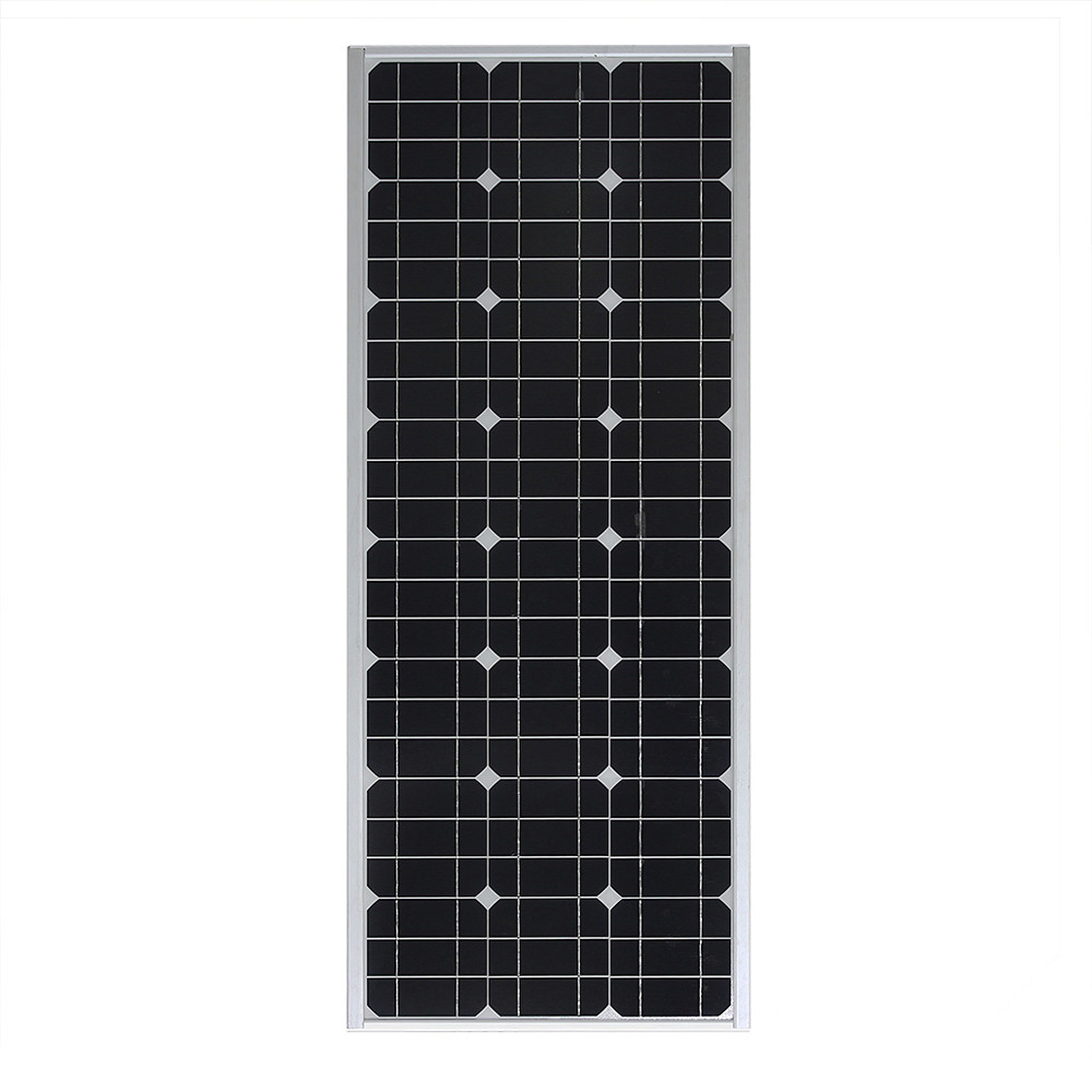 100W all-in-one integrated solar street light with radar sensor IP65